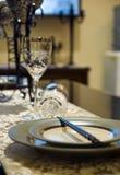 Weinglas und Ess-Stäbchen Stockbild