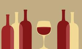 Weinglas und -flaschen vektor abbildung