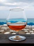 Weinglas Weinbrand Stockbild