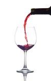 Weinglasgaststätte Stockfoto