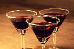 Weinglashintergrund Stockfotografie