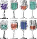 Weinglasillustration stock abbildung