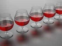 Weinglasillustration Stockfoto