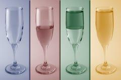 Weinglasmetapher/-konzept Lizenzfreies Stockfoto