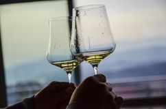Weinglaswettbewerb stockbild