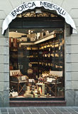 Weinhandlung in Italien Lizenzfreie Stockfotografie