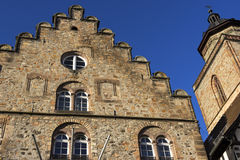 Weinhaus and Walpurgiskirche in Old Town in Alsfeld in Germany Royalty Free Stock Image