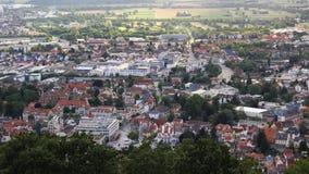 Weinheim alla strada della montagna (un bergstraße) del der, vista superiore Fotografie Stock