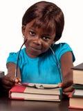 Weinig Afrikaans schoolmeisje Stock Foto