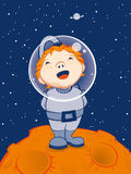 Weinig Astronaut Stock Fotografie