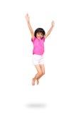 Weinig Aziatische meisjessprong Royalty-vrije Stock Foto