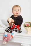 Weinig baby in het binnenland Stock Afbeelding