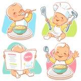 Weinig babyontbijt vector illustratie