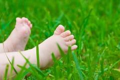 Weinig babyvoeten stock foto's