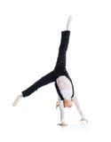 Weinig balletdanser maakt cartwheel royalty-vrije stock foto