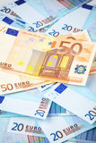 Weinig bankbiljetten van 20 euro Royalty-vrije Stock Foto