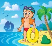 Weinig beeld 3 van het zwemmersthema Stock Fotografie