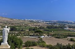 Weinig bekend Malta - Standbeeld van Heilige Joseph Stock Fotografie