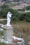 Weinig bekend Malta - Standbeeld van Heilige Joseph Royalty-vrije Stock Fotografie