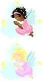 Weinig biddend engelenmeisje Stock Foto