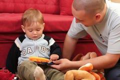Weinig blonde babyjongen Royalty-vrije Stock Foto's