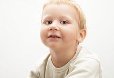 Weinig blonde jongen Stock Afbeelding