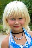 Weinig blonde meisje stock fotografie