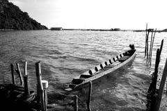 Weinig boot voor visser Stock Afbeelding