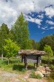 Weinig cabine in het hout Royalty-vrije Stock Foto