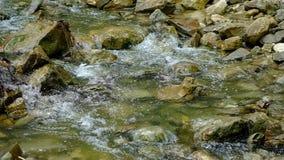 Weinig cascade in een rivier stock video