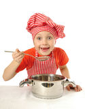 Weinig chef-kok Royalty-vrije Stock Fotografie