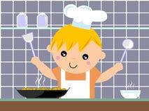Weinig chef-kok Royalty-vrije Stock Afbeelding