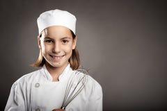 Weinig chef-kok het koken Stock Foto