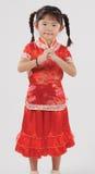 Weinig Chinees meisje royalty-vrije stock afbeelding