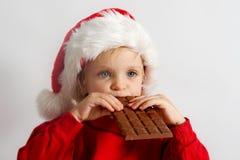 Weinig chocoladeKerstman Stock Foto