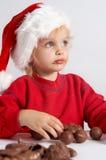 Weinig chocoladeKerstman Royalty-vrije Stock Afbeeldingen