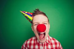 Weinig clown Royalty-vrije Stock Afbeelding