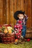 Weinig cowboy Royalty-vrije Stock Foto's