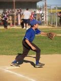 Weinig eerst baseman ligahonkbal Royalty-vrije Stock Foto