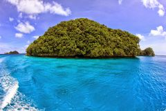Weinig Eiland in Palau Royalty-vrije Stock Afbeeldingen