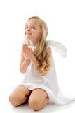 Weinig engel die omhoog met dank eruit ziet Royalty-vrije Stock Foto's