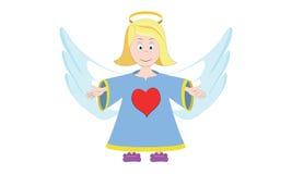 Weinig engel met een groot hart Stock Afbeelding