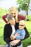 Weinig familie Royalty-vrije Stock Afbeelding