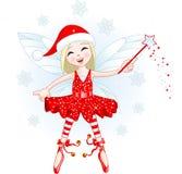 Weinig fee van Kerstmis Stock Foto