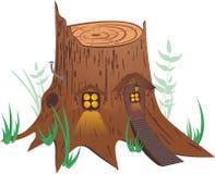 Weinig fee-Verhaal Huis stock illustratie