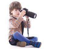 Weinig fotograaf Royalty-vrije Stock Foto
