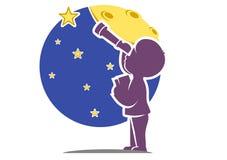 Weinig Galileo royalty-vrije illustratie