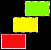Weinig geïsoleerdew lege frame kleurrijke zegels, motie Royalty-vrije Stock Afbeeldingen