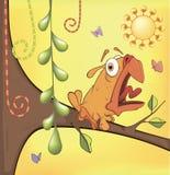 Weinig geel vogeltjebeeldverhaal Stock Afbeeldingen