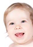 Weinig gelukkige baby Stock Afbeeldingen